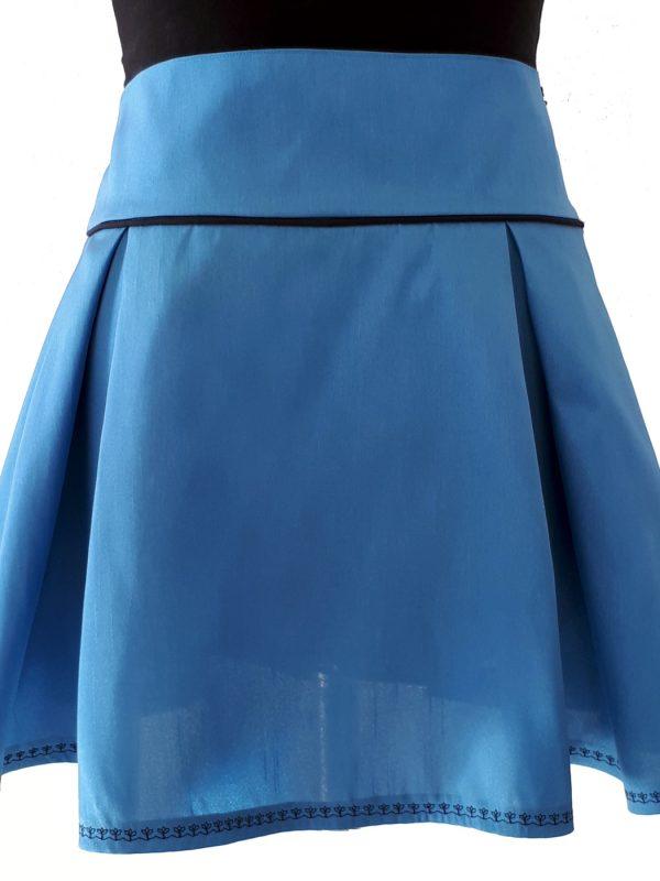 Illustration: Kellerfaltiges Türkisblau