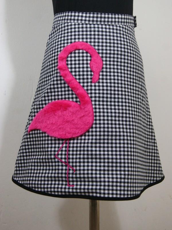 "Illustration: ""Frau Flamingo, die Kuschelzarte"""